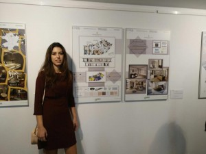La alumna de Estudios Superiores de Diseño de Interiores Carolina Tello ha ganado el certamen Keraben