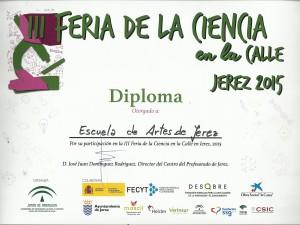 La Escuela de Arte de Jerez en la Feria de la Ciencia