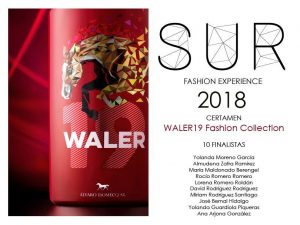 Tres alumnos finalistas en el Certamen Waler19 Fashion Collection de la Sur Fashion Experience 2018