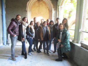 Alumnos de la Escuela de Arte de Jerez visitan la obra de un nuevo hotel de lujo