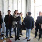 alumnos visitan la obra de hotel