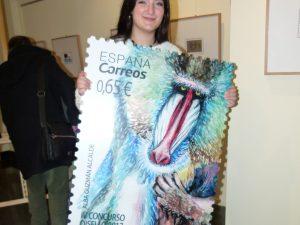 En circulación un sello diseñado por una alumna de la Escuela de Arte de Jerez